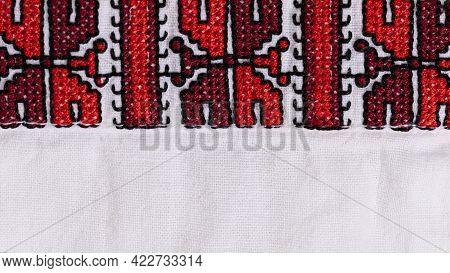 Ukrainian Embroidery Ornament.element Ethnic Ukrainian Male Clothing, Embroidered Shirt.