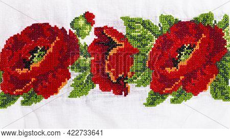 Ukrainian Embroidery Ornament. Element Ethnic Ukrainian Clothing.