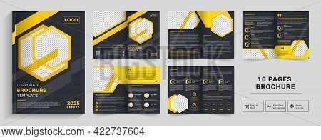 Corporate Theme 10 Pages Business Company Profile Brochure Design,minimal & Clean Geometric Design O