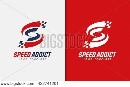 Modern Initial Letter S With Sporty Automotive Style, Abstract Graphic Logo Design Illustration. Gra