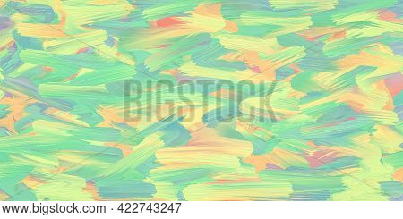 Pastel Ink Texture, Soft Multicolor Painted Background, Art Canvas. Colorful Pattern. Painting Desig