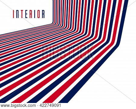 Geometric Backgrounds With Minimal Parallel 3D Lines Vector Abstract Illustration, Dimensional Desig