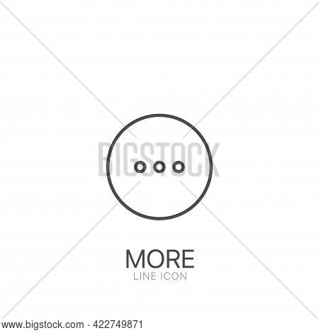 More Line Vector Symbol. Editable Stroke More Illustration For Web