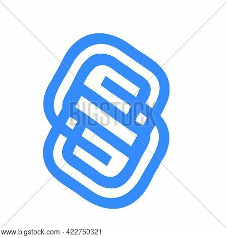 S, Ss,bs, Sg Initials Geometric Line Art Logo And Vector Icon