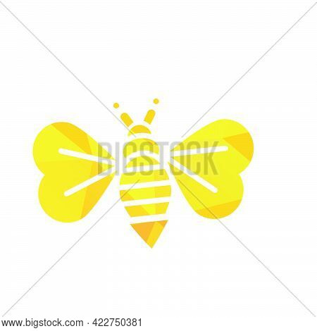 Modern Polygonal Bee And Honeycomb Vector Logo And Icon