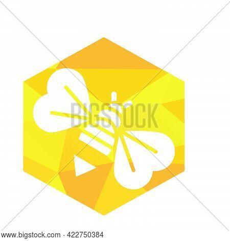 Hexagonal Modern Bee Logo And Vector Icon