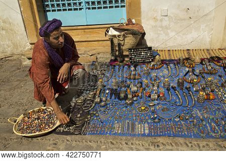 Chefchaouen, Morocco. 24 September 2017. Souvenir Trade On The Streets Of Chefchaouen.