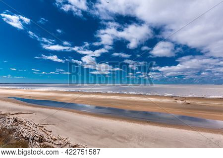 The Coast Of The Ob River In Spring. Berdsk, Novosibirsk Region, Western Siberia Of Russia