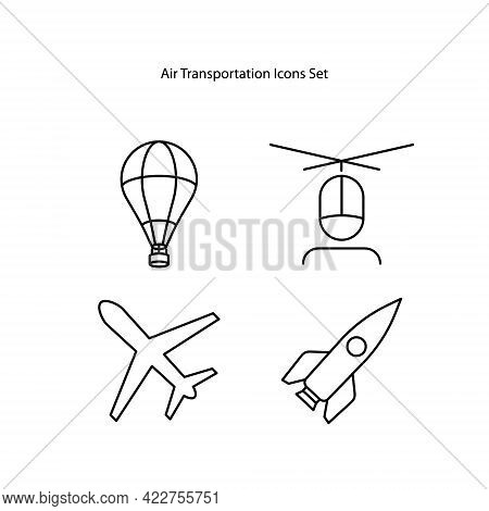 Air Transport Icons Set Isolated On White Background. Air Transport Icon Trendy And Modern Air Trans