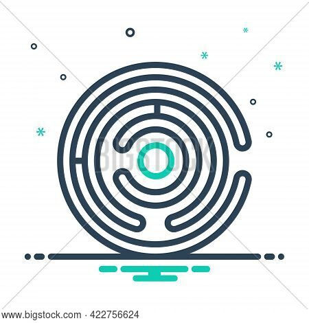 Mix Icon For Labyrinth Way-out Puzzle Maze Complication Imbroglio Intricacy Meander Twist