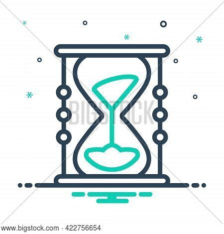 Mix Icon For Sands-of-time Sands  Timer Antique Hour-glass Measure Pending Countdown Running -