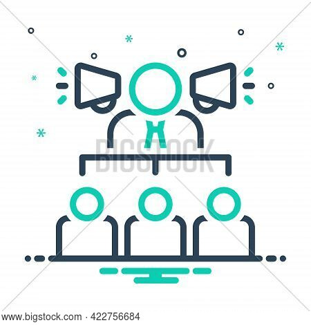 Mix Icon For Businessman-with-a-speaker Hierarchical Consultant Adviser Authority Counsellor