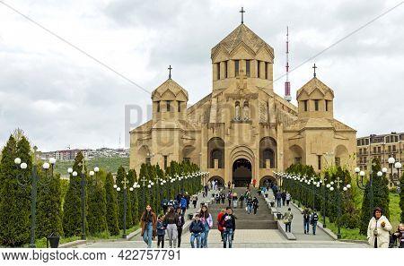 Yerevan,armenia - April 20,2019:st. Gregory The Illuminator Cathedral In Yerevan City,armenia.