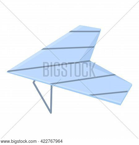 Hang Glider Icon. Cartoon Of Hang Glider Vector Icon For Web Design Isolated On White Background