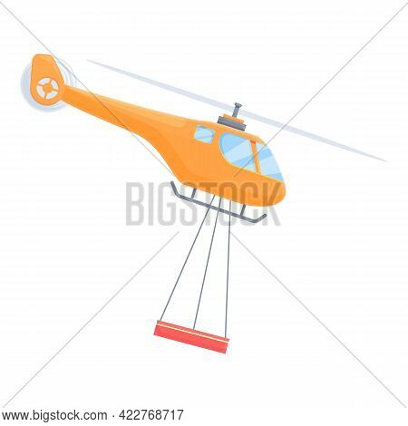 Helicopter Evacuation Icon. Cartoon Of Helicopter Evacuation Vector Icon For Web Design Isolated On