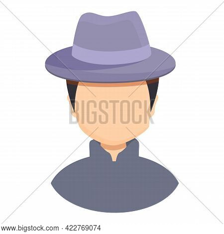 Anonymous Agent Icon. Cartoon Of Anonymous Agent Vector Icon For Web Design Isolated On White Backgr