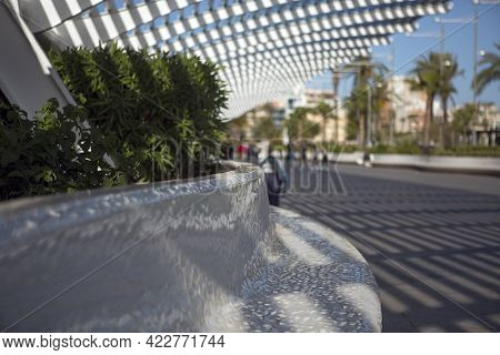 Selective Focus Photography Of A Designer Bank Located In El Paseo Vista Alegre In Torrevieja, Next