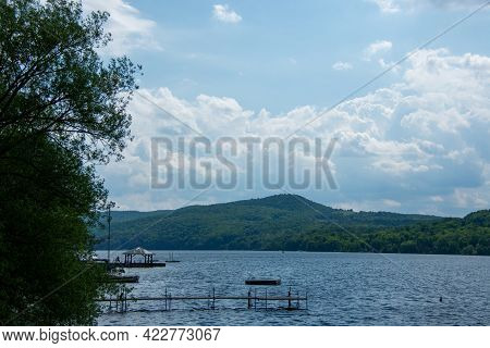 Beautiful And Wild Lake In The Province Of Quebec, Canada