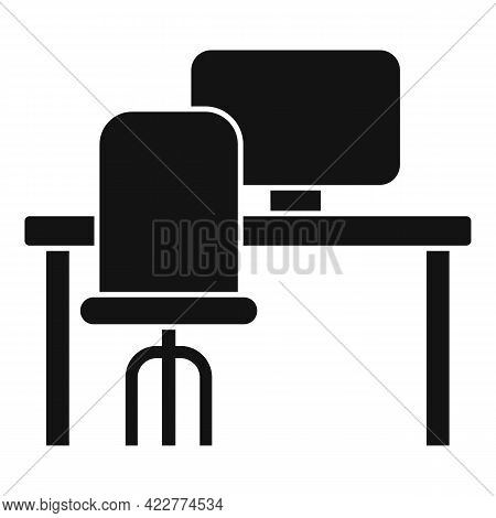 Computer Workspace Icon. Simple Illustration Of Computer Workspace Vector Icon For Web Design Isolat