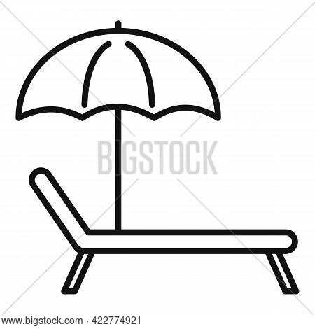 Relax Beach Chair Icon. Outline Relax Beach Chair Vector Icon For Web Design Isolated On White Backg
