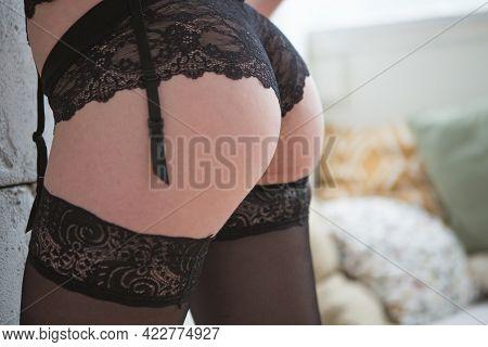 Lovely Beautiful Girl In Elegant Underwear In The Room