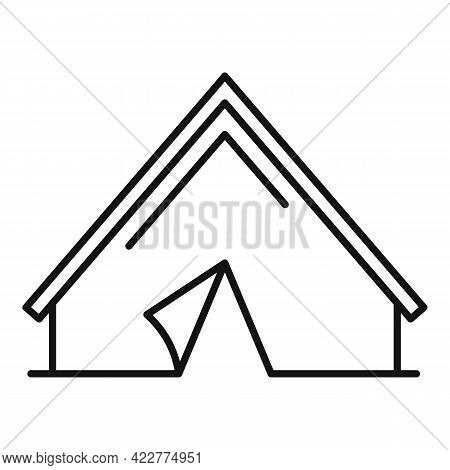 Quiet Space Tent Icon. Outline Quiet Space Tent Vector Icon For Web Design Isolated On White Backgro