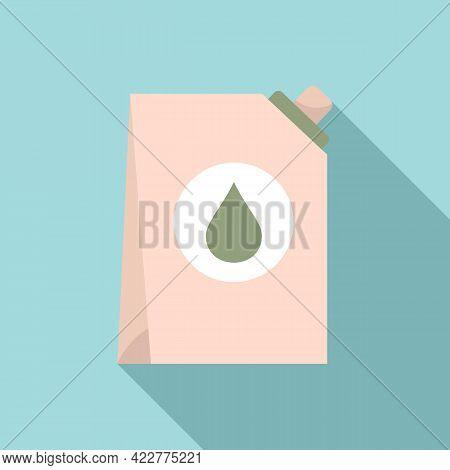 Softener Drop Pack Icon. Flat Illustration Of Softener Drop Pack Vector Icon For Web Design