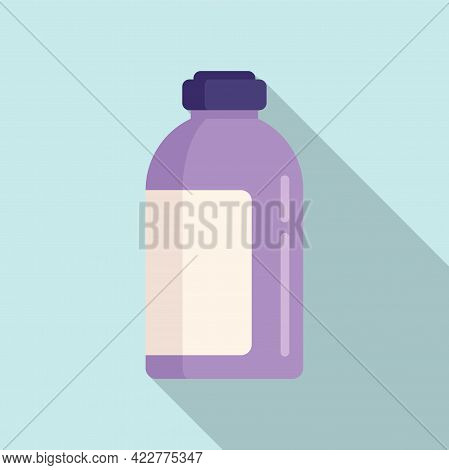 Softener Chemical Bottle Icon. Flat Illustration Of Softener Chemical Bottle Vector Icon For Web Des