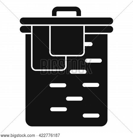 Softener Clothes Box Icon. Simple Illustration Of Softener Clothes Box Vector Icon For Web Design Is