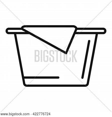 Softener Basin Icon. Outline Softener Basin Vector Icon For Web Design Isolated On White Background