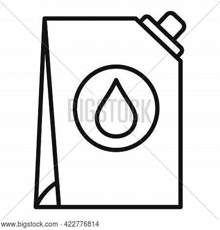 Softener Drop Pack Icon. Outline Softener Drop Pack Vector Icon For Web Design Isolated On White Bac
