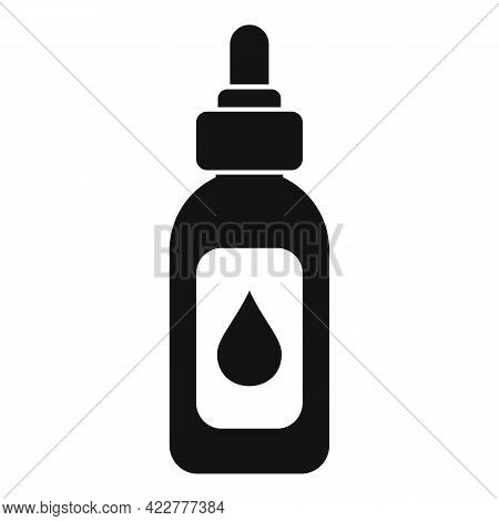 Essential Oils Bio Dropper Icon. Simple Illustration Of Essential Oils Bio Dropper Vector Icon For W