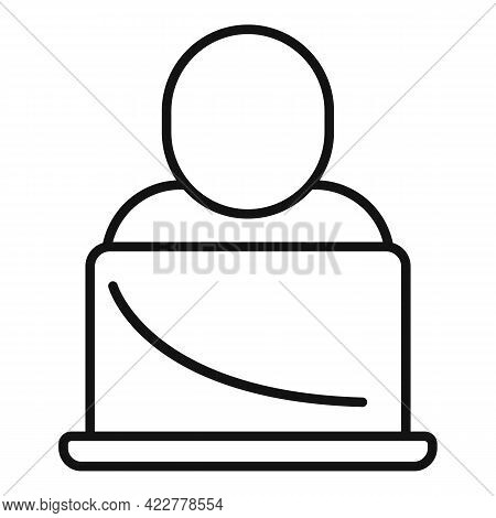 Home Office Studio Icon. Outline Home Office Studio Vector Icon For Web Design Isolated On White Bac