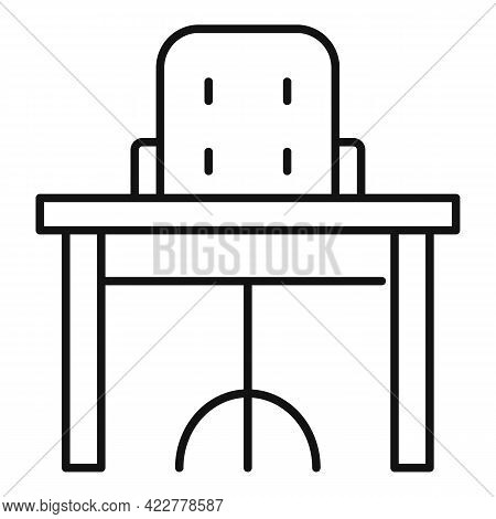 Home Office Armchair Icon. Outline Home Office Armchair Vector Icon For Web Design Isolated On White