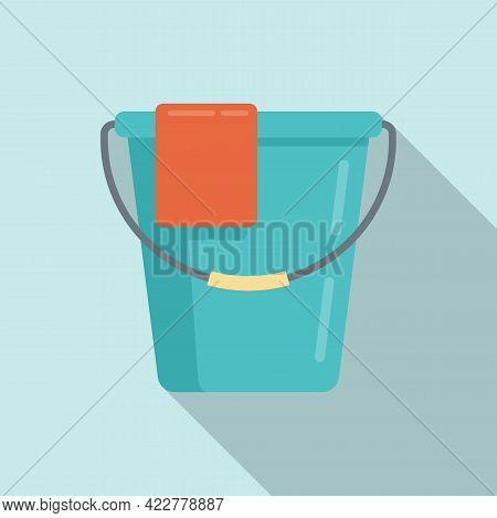 Disinfection Water Bucket Icon. Flat Illustration Of Disinfection Water Bucket Vector Icon For Web D