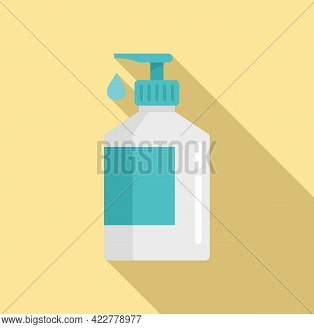 Disinfection Dispenser Drop Icon. Flat Illustration Of Disinfection Dispenser Drop Vector Icon For W