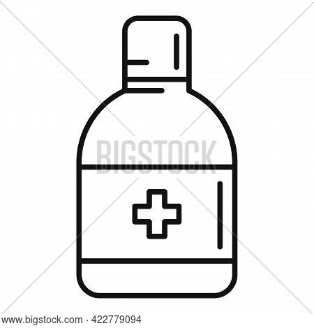 Disinfection Dispenser Icon. Outline Disinfection Dispenser Vector Icon For Web Design Isolated On W