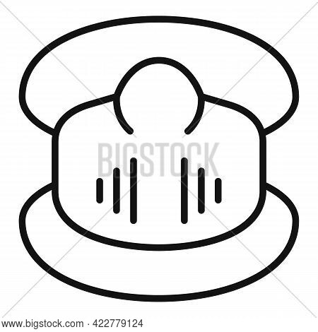 Disinfection Soft Mask Icon. Outline Disinfection Soft Mask Vector Icon For Web Design Isolated On W