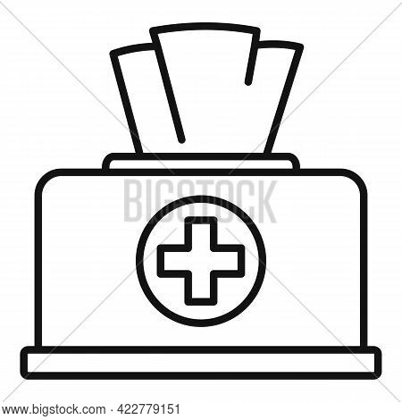 Disinfection Wipes Icon. Outline Disinfection Wipes Vector Icon For Web Design Isolated On White Bac