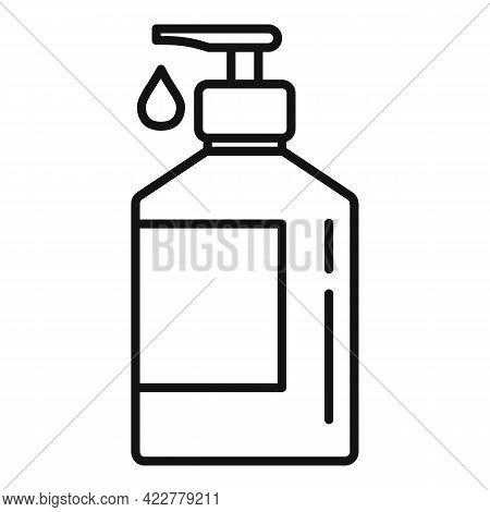 Disinfection Dispenser Drop Icon. Outline Disinfection Dispenser Drop Vector Icon For Web Design Iso