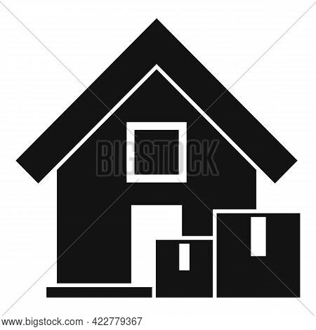 Fast Home Delivery Icon. Simple Illustration Of Fast Home Delivery Vector Icon For Web Design Isolat
