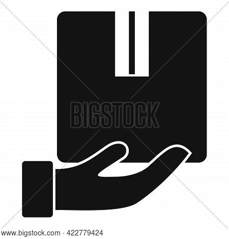 Take Parcel Home Delivery Icon. Simple Illustration Of Take Parcel Home Delivery Vector Icon For Web
