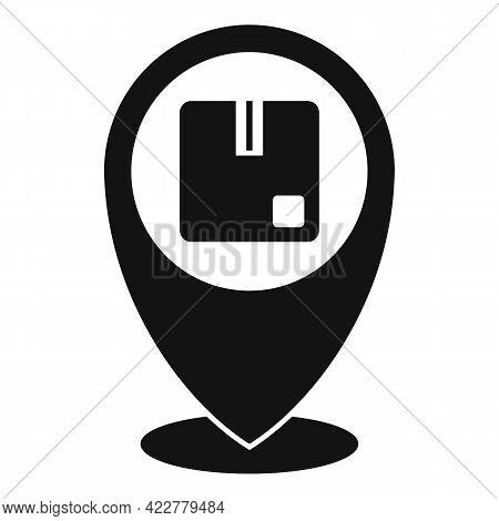 Tracking Parcel Home Delivery Icon. Simple Illustration Of Tracking Parcel Home Delivery Vector Icon