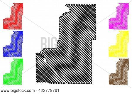 Sanpete County, State Of Utah (u.s. County, United States Of America, Usa, U.s., Us) Map Vector Illu
