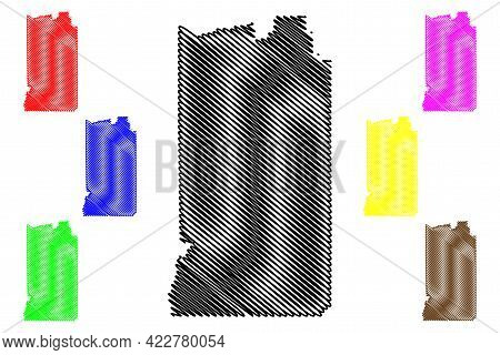 Uintah County, State Of Utah (u.s. County, United States Of America, Usa, U.s., Us) Map Vector Illus