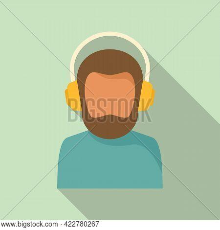 Podcast Speaker Icon. Flat Illustration Of Podcast Speaker Vector Icon For Web Design