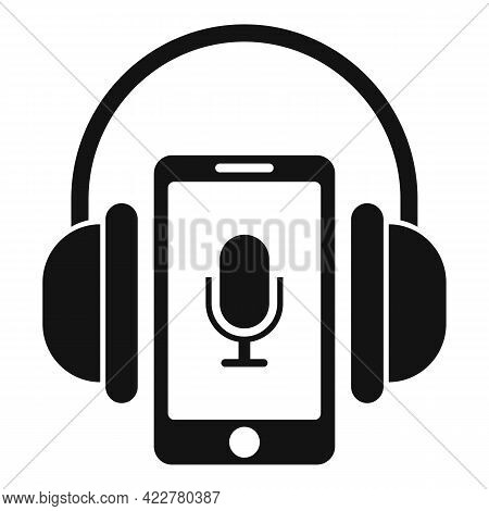 Smartphone Podcast Icon. Simple Illustration Of Smartphone Podcast Vector Icon For Web Design Isolat
