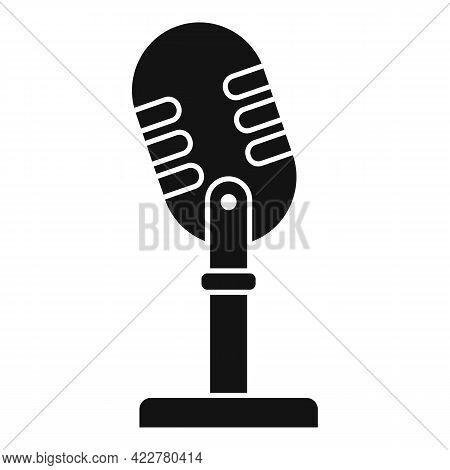 Studio Microphone Podcast Icon. Simple Illustration Of Studio Microphone Podcast Vector Icon For Web