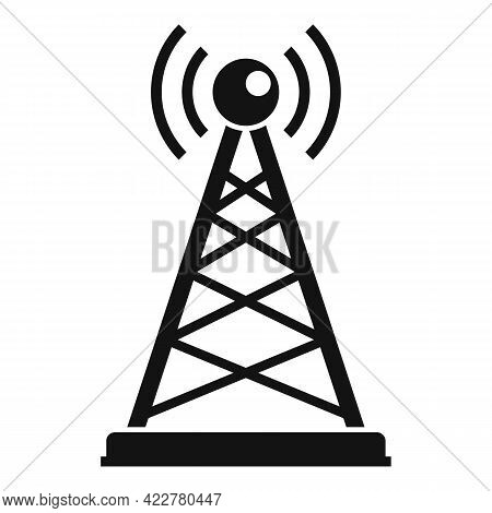 Podcast Tower Icon. Simple Illustration Of Podcast Tower Vector Icon For Web Design Isolated On Whit
