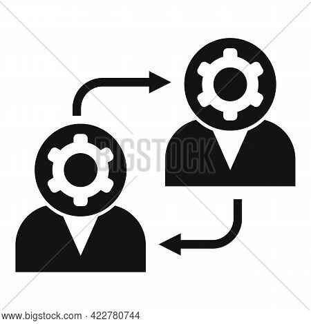 Outsource Exchange Icon. Simple Illustration Of Outsource Exchange Vector Icon For Web Design Isolat